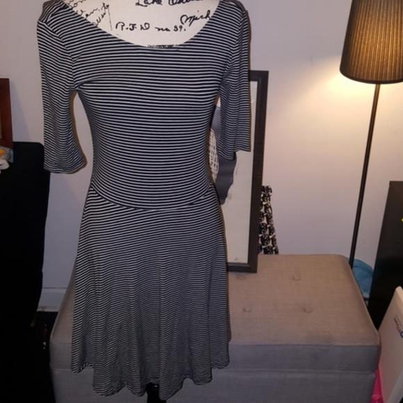 decree jr plus size skater dress striped nwot